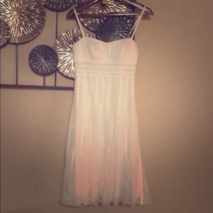 White lace dress with built in bustier.